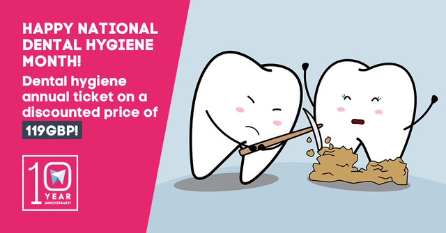 We would like to introduce to you the 'dental hygiene annual ticket' on a discounted price of 119GBP