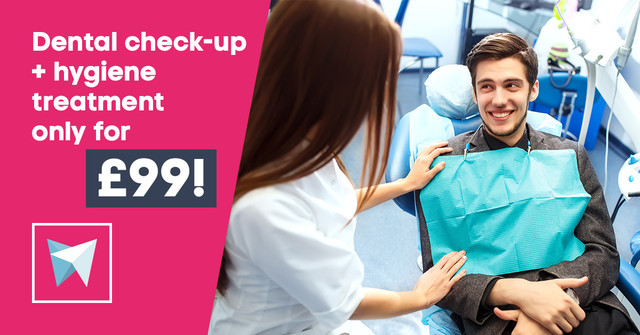 Dental check-up + hygiene treatment only for £99