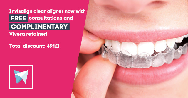 Orthodontic treatment is nearly invisible with the Invisalign aligner